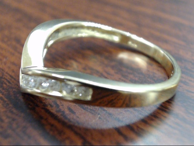 VINTAGE DIAMOND CHEVRON ANNIVESARY WED RING BAND SOLID 14K GOLD SZ 7