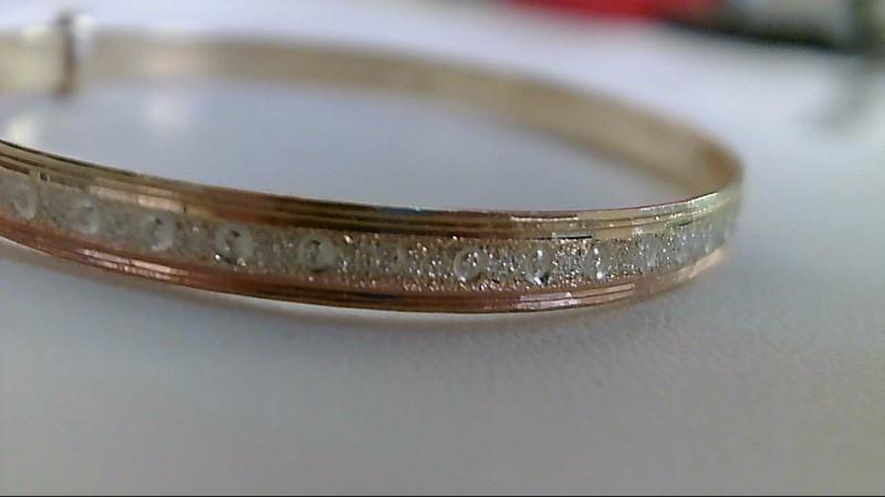 Gold Bracelet 14K Tri-color Gold 6.2g
