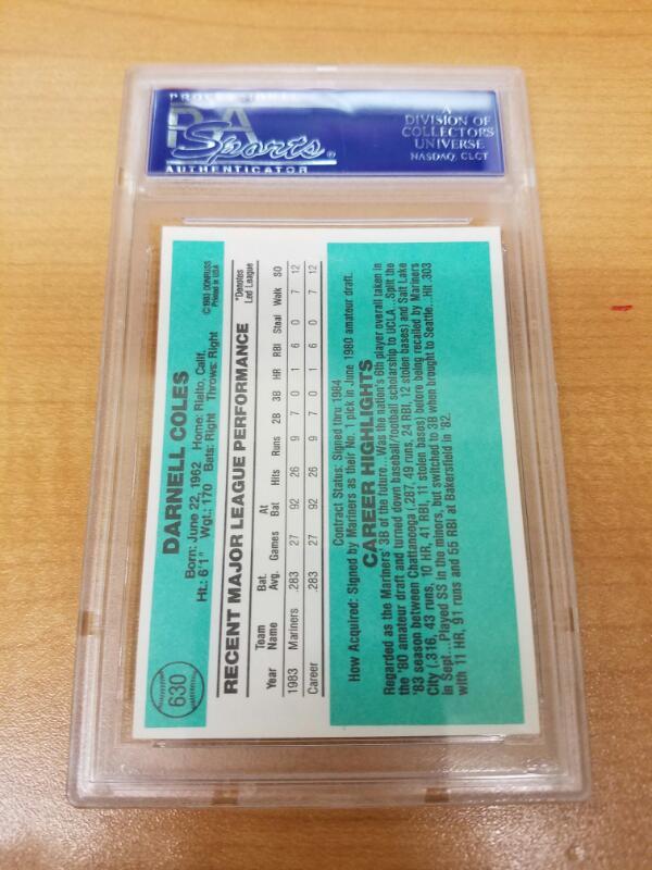 PSA DNA Sports Memorabilia 1984 DONRUSS BASEBALL CARDS