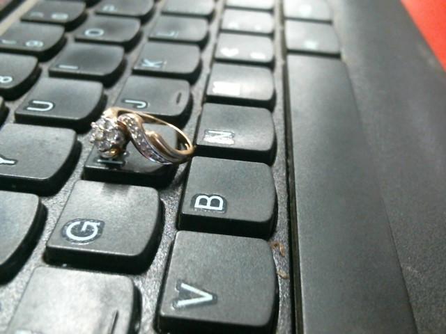 Lady's Gold-Diamond Anniversary Ring 7 Diamonds .21 Carat T.W. 10K Yellow Gold