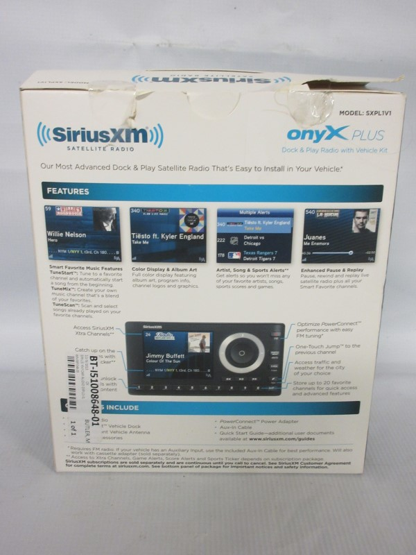 SIRIUS XM Car Audio SXPL1V1