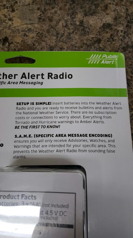 Acu-Rite 08550W1 Portable Weather Alert NOAA Radio With S.A.M.E.