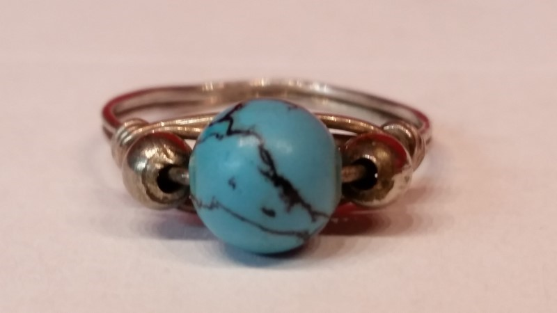 Native American Indian Lady's Silver Ring 925 Silver 2g Size:9