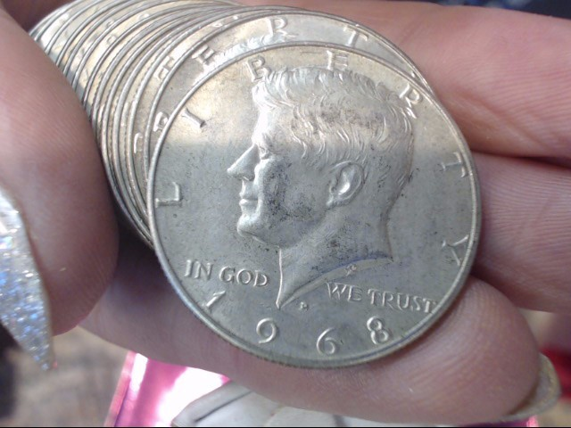 UNITED STATES Silver Coin 1968-D KENNEDY - 1/2 DOLLAR
