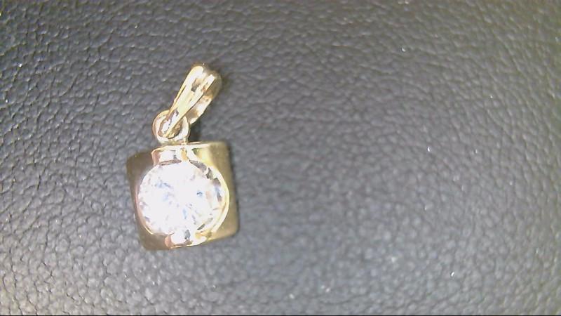 Gold-Diamond Solitaire Pendant .36 CT. 10K Yellow Gold 1.6g