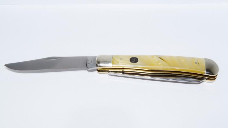 Hen & Rooster Trapper 31224K 24 Karat Corelon 2 Blade Solingen Pocket Knife