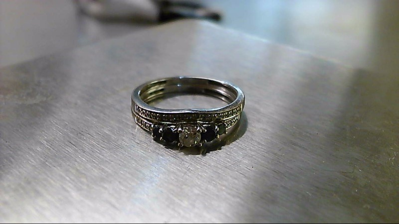 Lady's Diamond Wedding Set 29 Diamonds .47 Carat T.W. 14K White Gold 2.61g