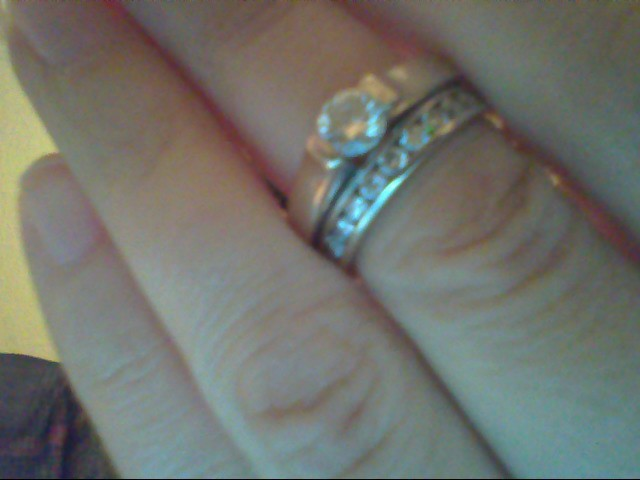 Lady's Diamond Wedding Set 12 Diamonds .96 Carat T.W. 14K White Gold 7.8g