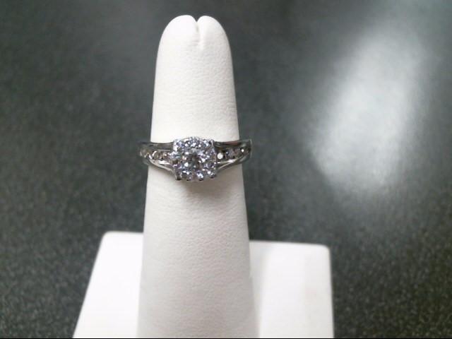 Lady's Diamond Fashion Ring 25 Diamonds .71 Carat T.W. 14K White Gold 4.3g