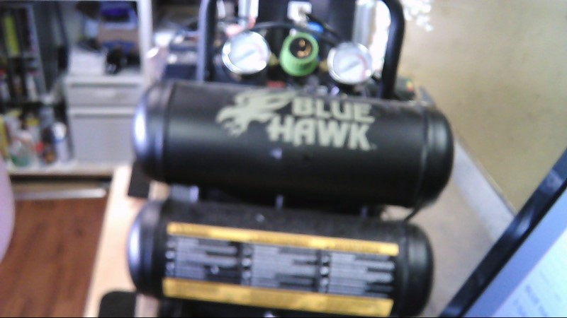 BLUE HAWK Air Compressor 2-GALLON 125 PSI AIR COMPRESSOR KIT W/ NAILER