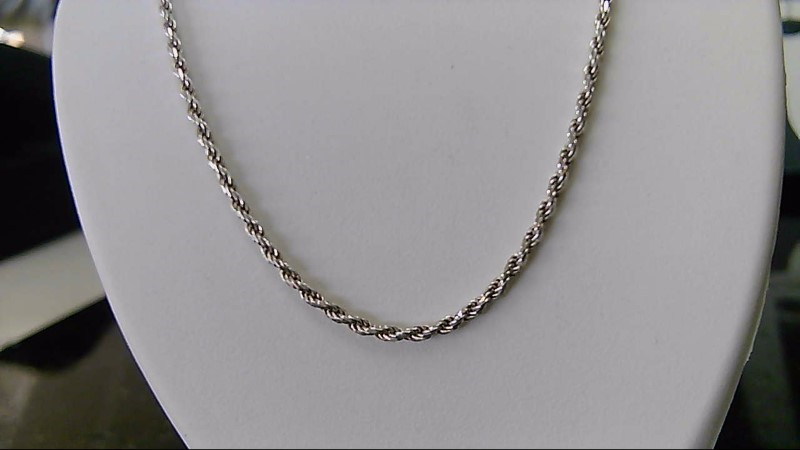 """sterling silver 925 16"""" rope chain"""
