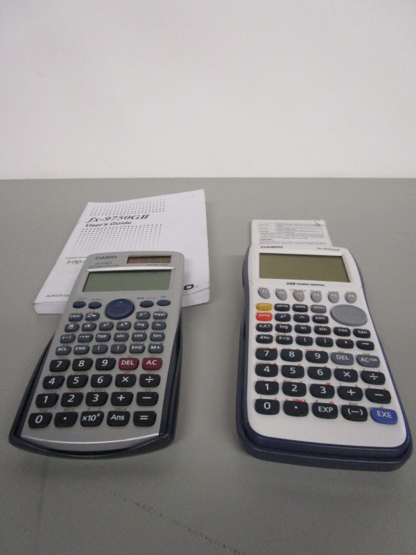 CASIO FX-9750GII USB POWER GRAPHIC, FX-115 ES CALCULATOR PAIR