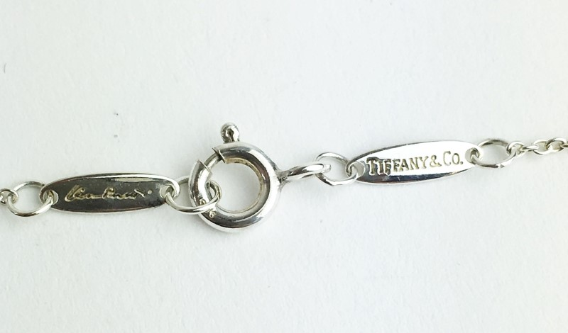 "TIFFANY & CO ELSA PERETTI .925 TEARDROP NECKLACE W/ 18"" CHAIN"
