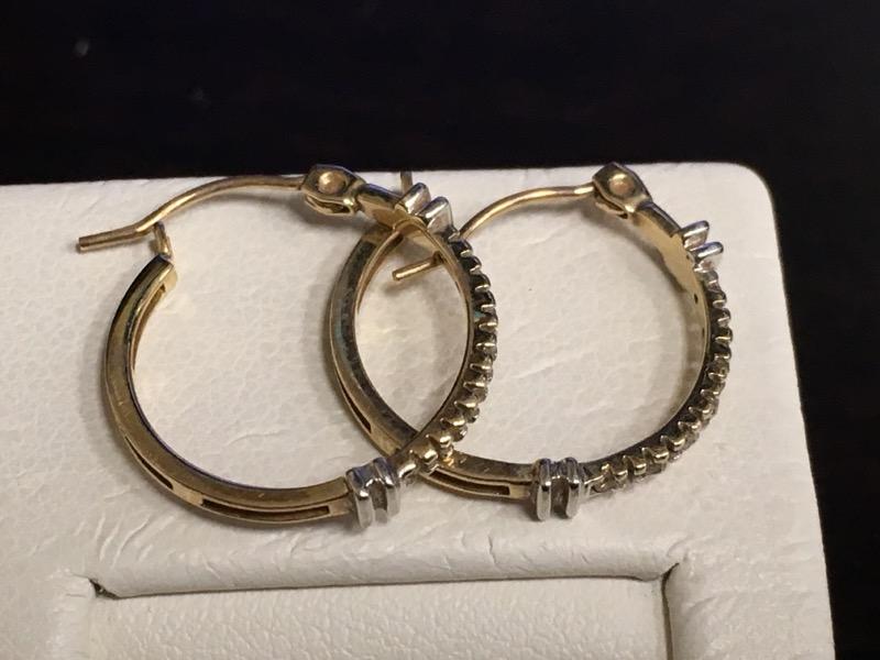 Gold Earrings 10K Yellow Gold 1.1dwt