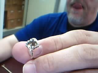 Amethyst Gent's Stone & Diamond Ring 9 Diamonds .09 Carat T.W. 14K Yellow Gold