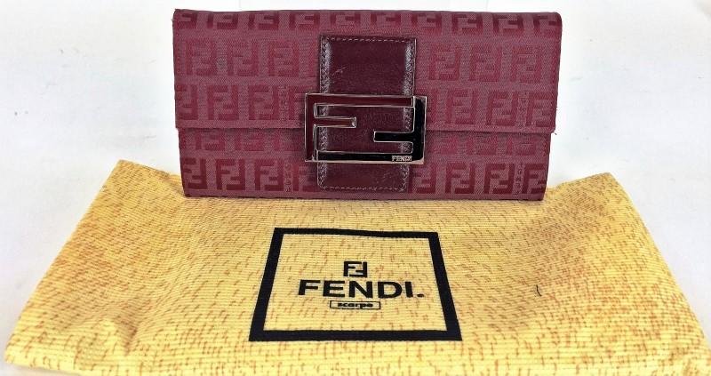 FENDI CANVAS CONTINENTAL WALLET