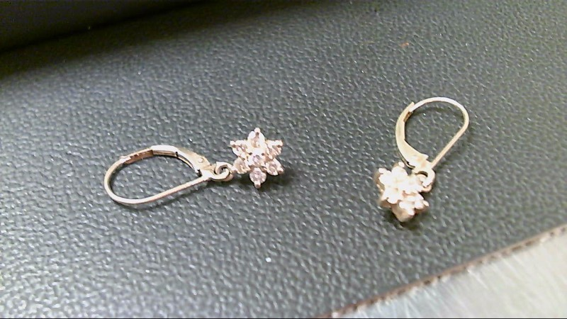 Gold-Diamond Earrings 14 Diamonds .14 Carat T.W. 14K Yellow Gold 1.6g