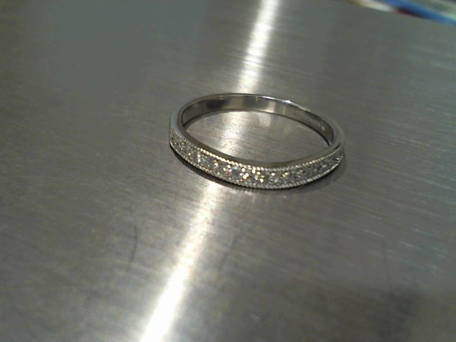 Lady's Diamond Wedding Band 17 Diamonds .17 Carat T.W. 14K White Gold 1.8g