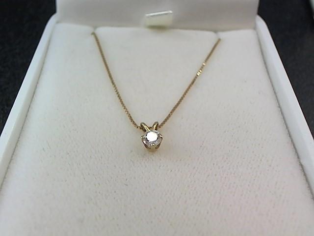 Diamond Necklace .22 CT. 14K Yellow Gold 1.6g