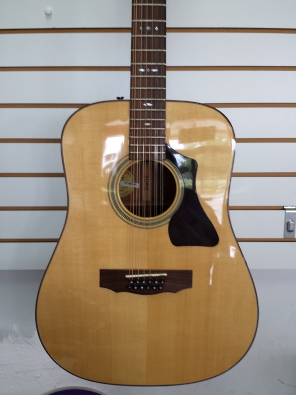GUILD GAD-G212 Natural 12-String Acoustic Dreadnought Guitar