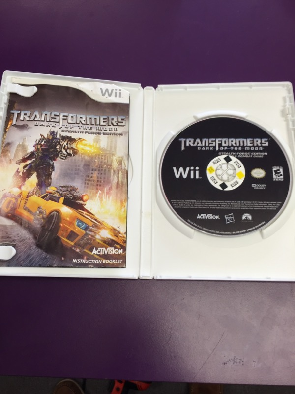 Nintendo Wii Game TRANSFORMER DARK OF THE MOON STEALTH FORCE EDITION