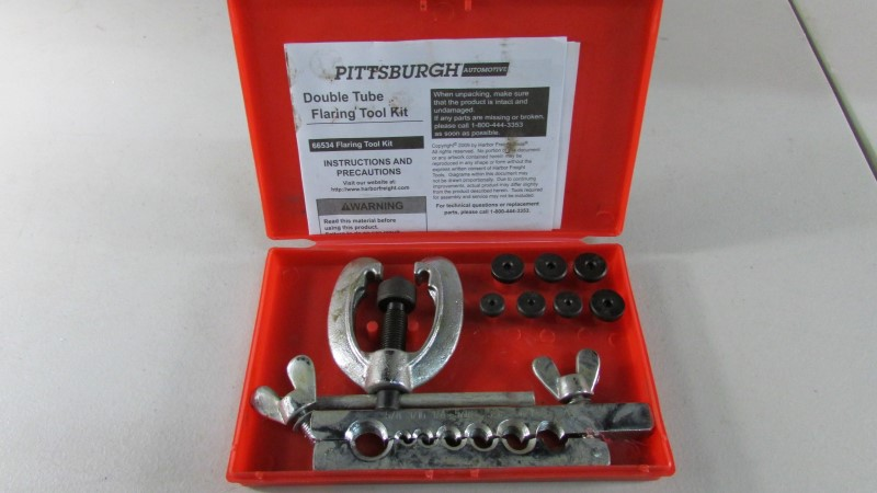 PITTSBURGH DOUBLE FLARING TOOL KIT 66534