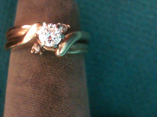Lady's Diamond Wedding Set 3 Diamonds .24 Carat T.W. 14K Yellow Gold 3.3dwt