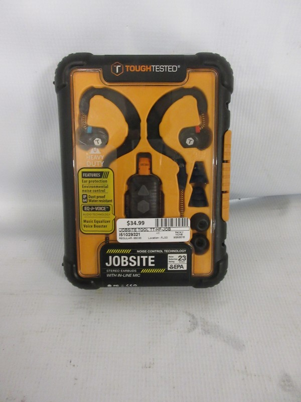 TOUGHTESTED Jobsite Stereo Headphones TT-HF-JOB