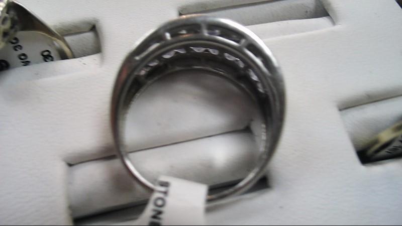 Purple Stone Lady's Stone Ring 10K White Gold 3.6g Size:7.5