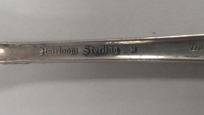 HEIRLOOM STERLING DAMASK ROSE TEASPOON