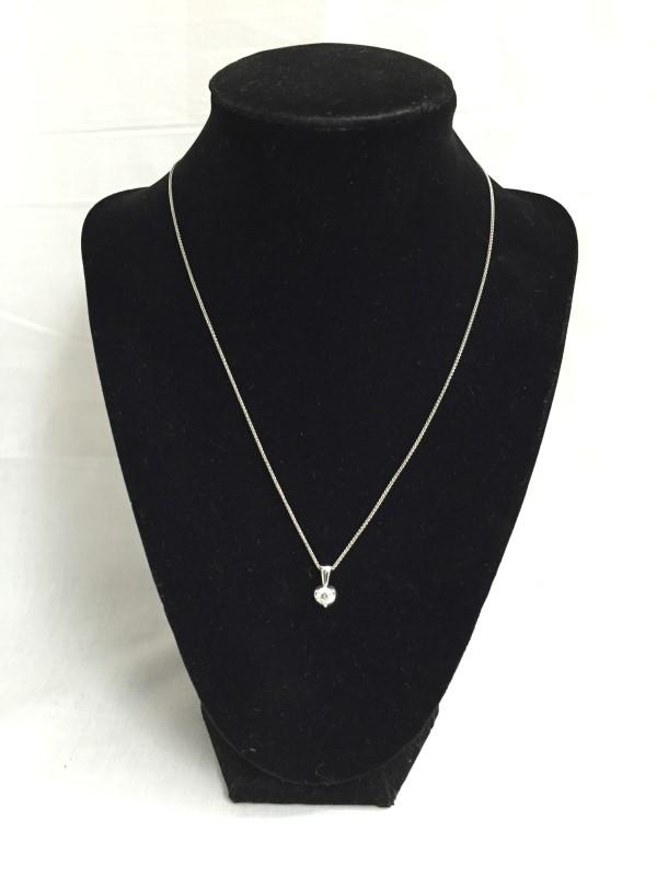 "18"" Diamond Necklace .46 CT. 18K White Gold 2.3dwt"