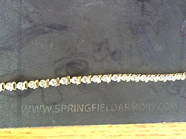 Gold-Diamond Bracelet 35 Diamonds .35 Carat T.W. 14K Yellow Gold 6.7g