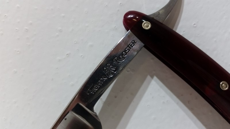 Frank Buster Fight'n Rooster Straight Razor Solingen Germany