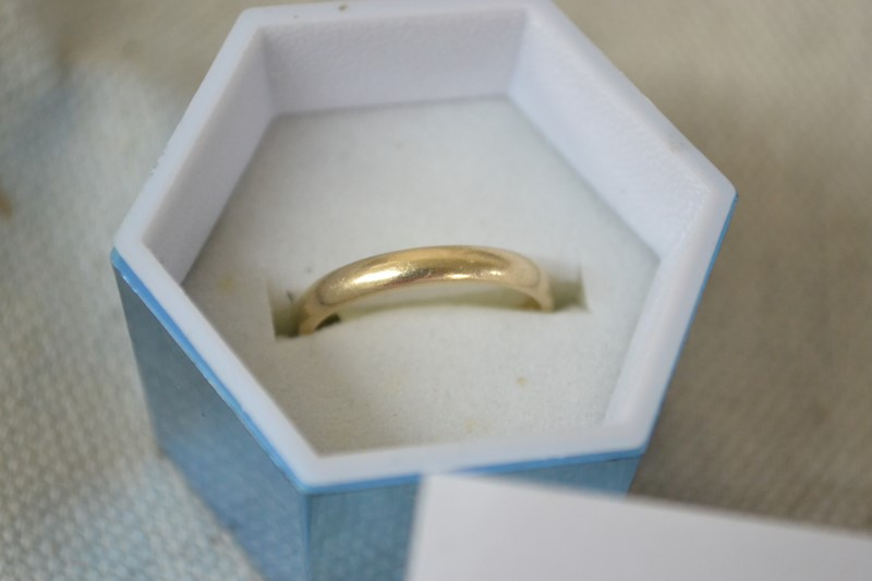 Gent's Gold Wedding Band 14K Yellow Gold 2.6g