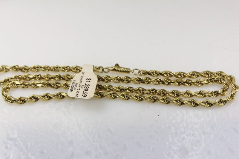 "20"" Gold Chain 14K Yellow Gold 23.5g"