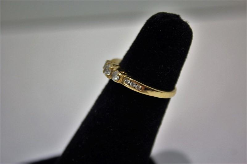 Lady's Diamond Engagement Ring 9 Diamonds .40 Carat T.W. 14K Yellow Gold 2.9g
