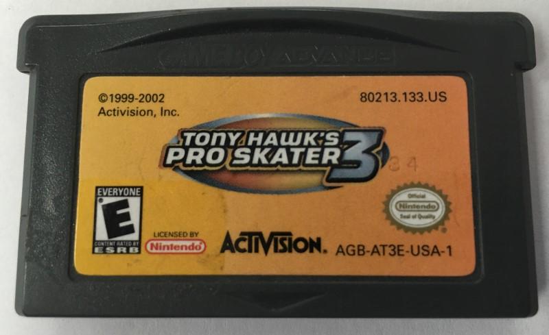 NINTENDO TONY HAWK PRO SKATER 3  GAME BOY ADVANCE
