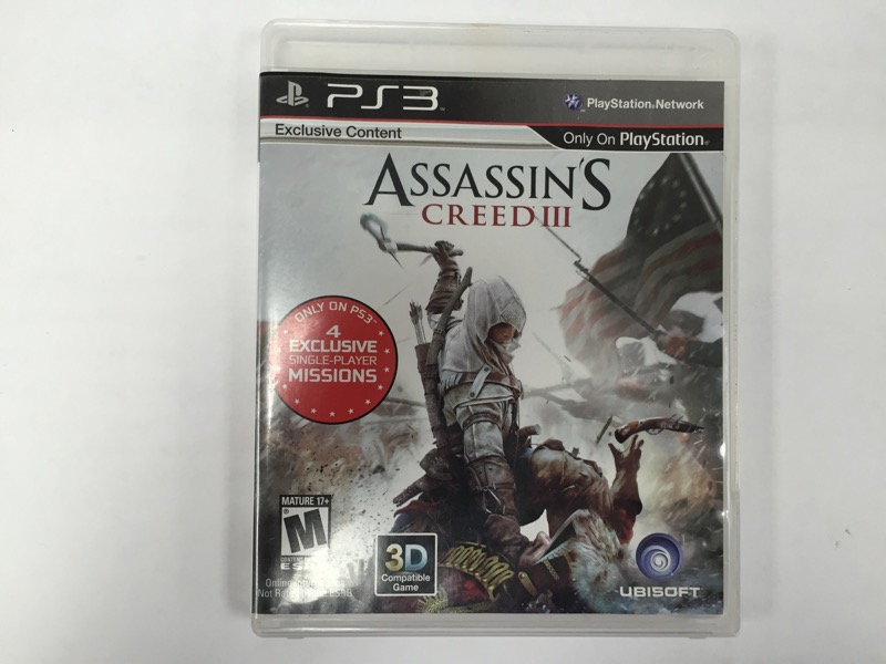 SONY PS3 ASSASSINS CREED III