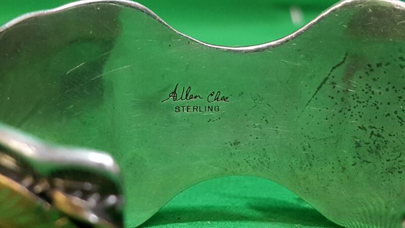 ALLEN CHEE NAVAJO STERLING SILVER WATCH CUFF 925 Silver 54.7g