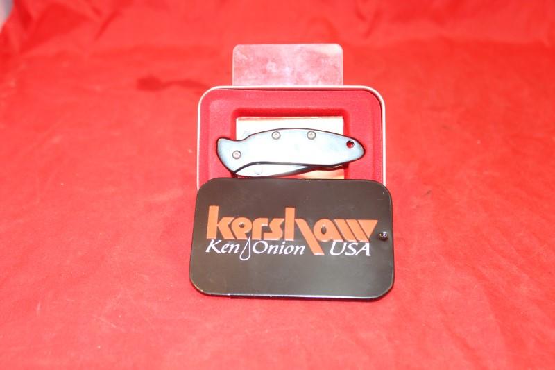 Vintage Kershaw 1600BLK Ken Onion Design Knife