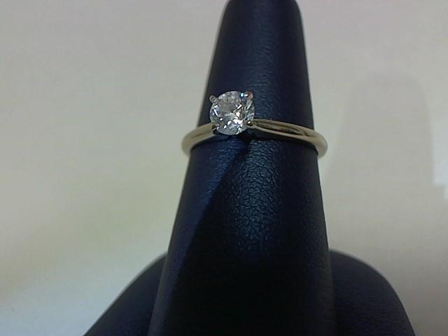 Lady's Diamond Engagement Ring .46 CT. 14K White Gold 2.1g