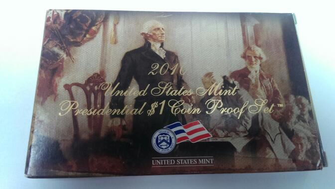 UNITED STATES 2010 PRESIDENTIAL $1 COIN PROOF SET