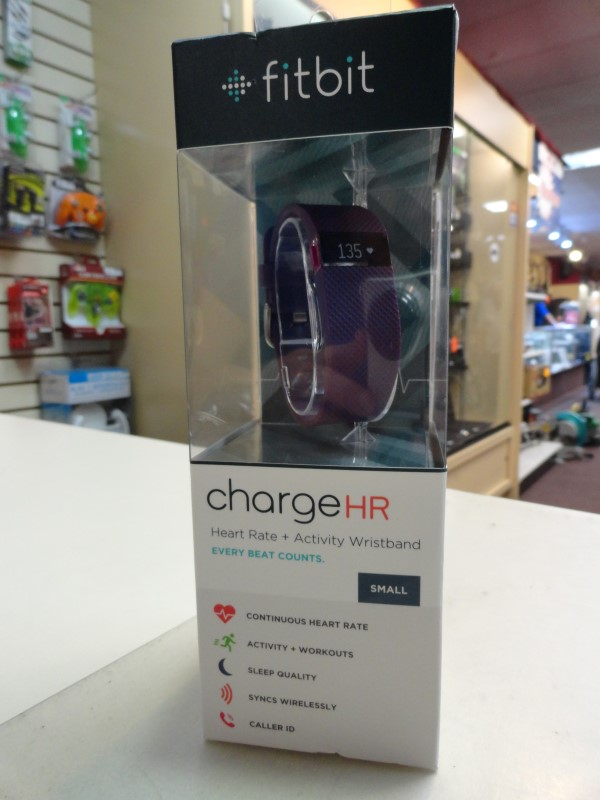 FitBit ChargeHR Heart Rate + Activity Wristband - Size Small - Plum