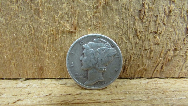 UNITED STATES Silver Coin 1943 MERCURY DIME
