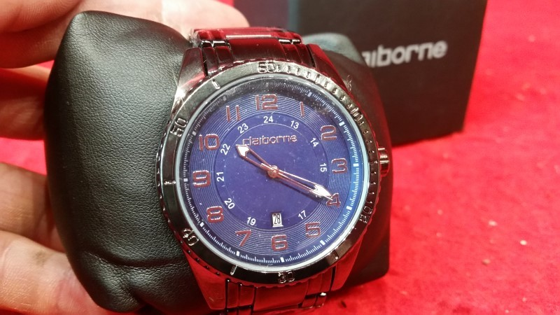 Claiborne Men's Watch - Model CLM1172 - Blue Dial w/Box