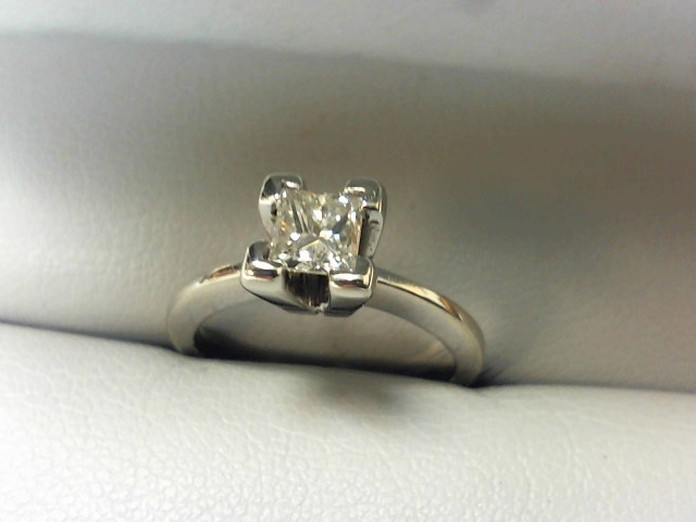 Lady's Diamond Solitaire Ring .38 CT. 14K White Gold 2.8g