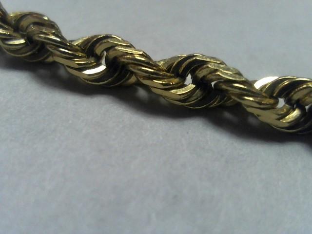 Gold Rope Bracelet 14K Yellow Gold 4.5g
