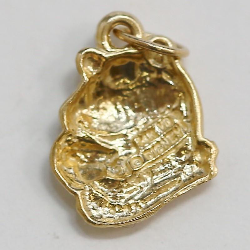 Disney Winnie The Pooh 14K Yellow Gold Charm