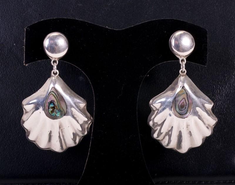 Lady's Earrings Danglins Silver 925 18.5G