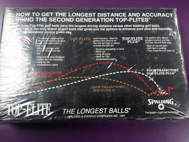 *NEW* Vintage Golf Balls Spalding Top Flite II - Box of 15